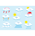 Weather cartoon vector image