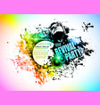 Abstract Disco Club Flyer vector image vector image