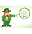 leprechaun hand point to special offer sale text vector image