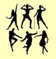 man and woman dancing silhouette vector image vector image