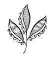 Original Decorative Leaf with Ornament vector image
