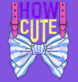 CUTE BOW vector image