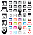 user avatars people icon set vector image