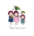 cute little girl cherry vector image