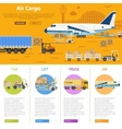Air cargo infographics vector image