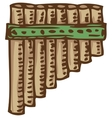 Bamboo Pan Flute vector image