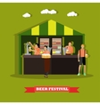 Beer festival concept People vector image