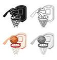 hand with a ball near the basketbasketball single vector image