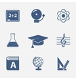 Interface elements for education website vector image