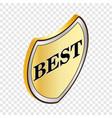 label best isometric icon vector image