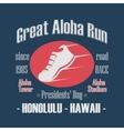 Sport Typography Great Aloha Run vector image