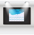 Frame with 2013 year calendar art gallery vector image