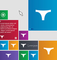 Underwear icon sign buttons Modern interface vector image