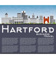 Hartford Skyline with Gray Buildings vector image