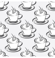 Seamless background with coffee cups vector image