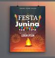 festa junina flyer design for latin american vector image