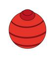 yoga ball design vector image