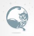 lunar cat vector image vector image