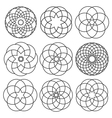 set of round elements for arabic design vector image vector image