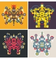 Set of colorful robots vector image vector image