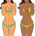 Beautiful woman bodies in bikini vector image vector image