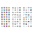 Devices icons flat icon vector image