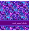 Violet lilac and blue peacock feathers pattern vector image