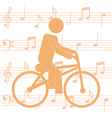 cycling man silhouette vector image