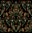 damask hand drawn seamless pattern floral vector image