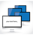 Display LCD screens vector image