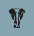 elephant sign logo emblem -07 vector image