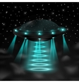 Flying ufo in the night vector image