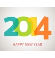 Happy New Year retro greeting card with vector image