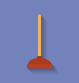 Icon of Toilet plunger Flat style vector image