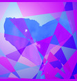 polygon heart background vector image