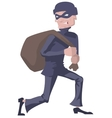 Robber in a mask carries bag Man robber vector image