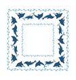 ocean frame vector image