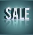 3d word sale vector image