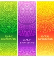 Tribal ethnic vintage banners vector image