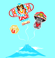 Japanese kites vector image vector image