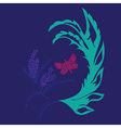 Butterfly with Floral4 vector image