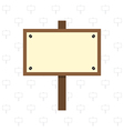 Wooden sign vector image