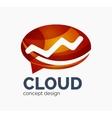 Modern cloud logo vector image