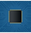 Realistic black electronic microchip vector image vector image
