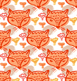 Fox pattern6 vector image