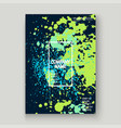neon blue greenery explosion paint splatter vector image
