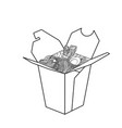 sketch of chinese food in a box vector image