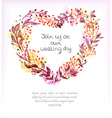 Watercolor floral frame colorful natural vector image
