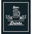 set drinks glass cup design vector image