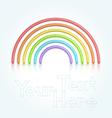 Rainbow symbol vector